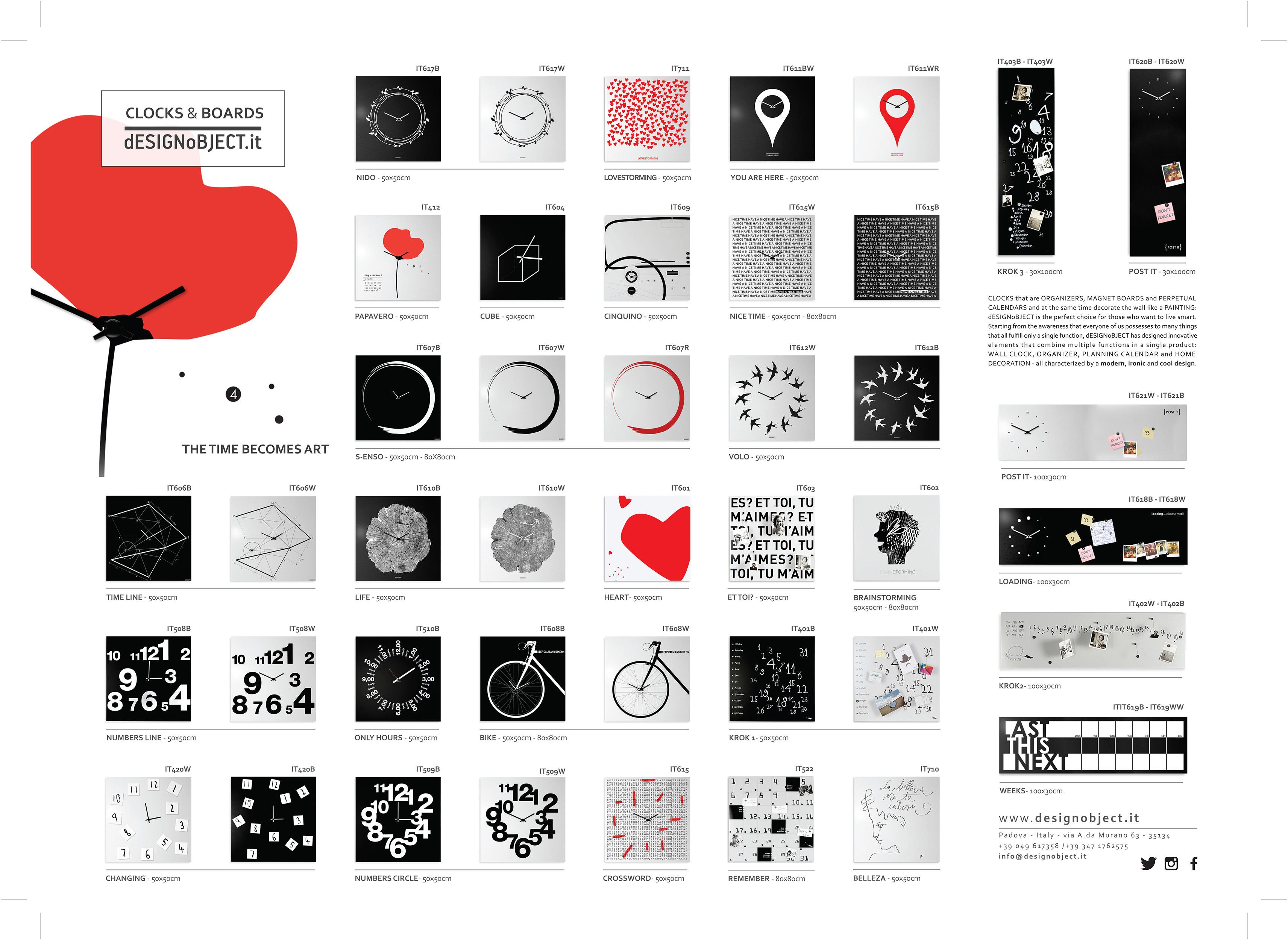 Clock Design - Magnetic Boards - designobject