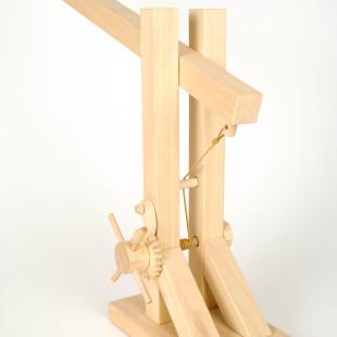 leonardo da vinci wooden lamp flexible with black wire