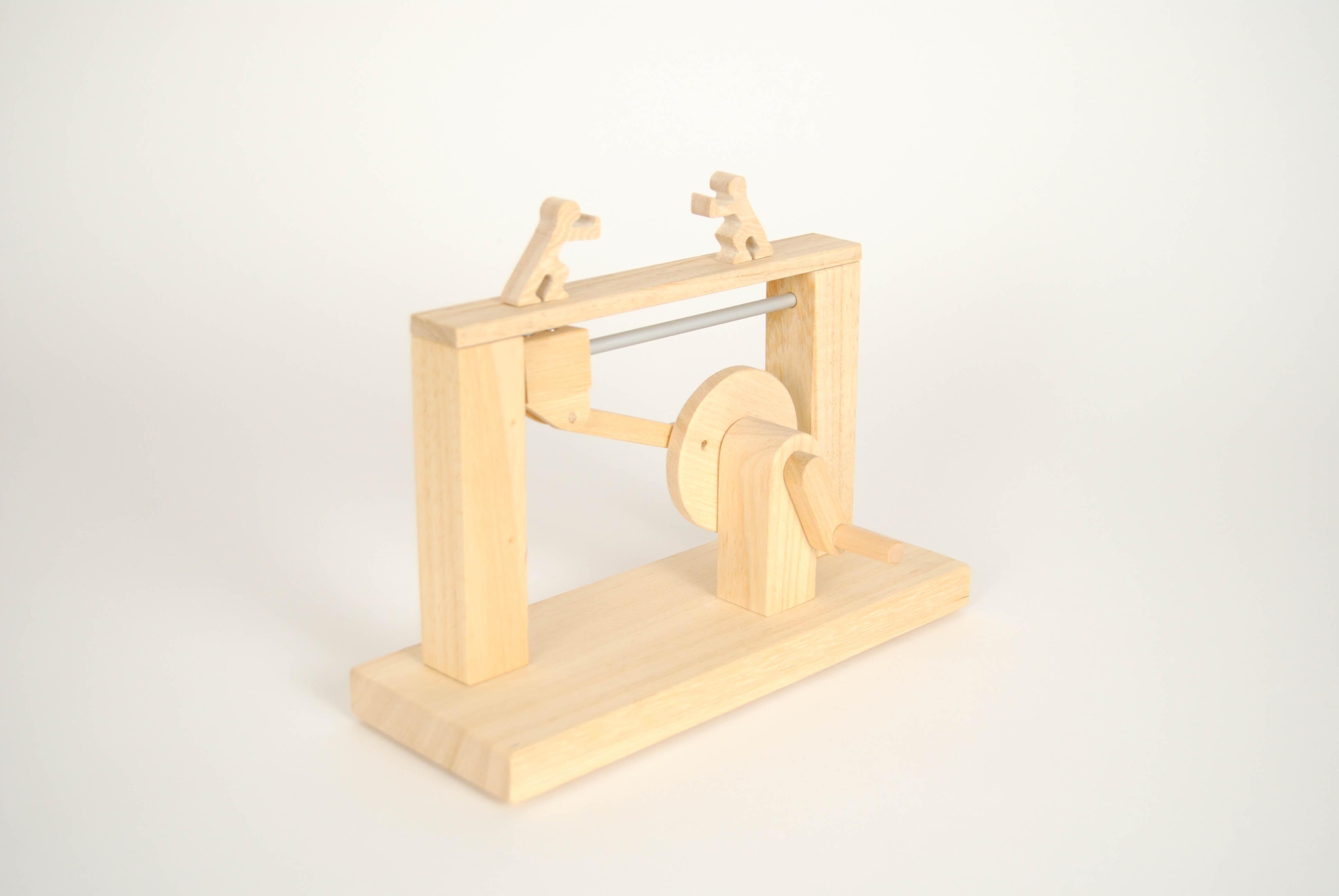 leonardo da vinci magnetic wooden toy with people shove