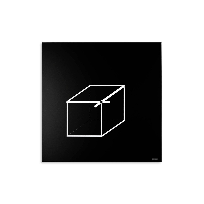 Cube clock orologio da parete design minimal designobject - Orologio design parete ...