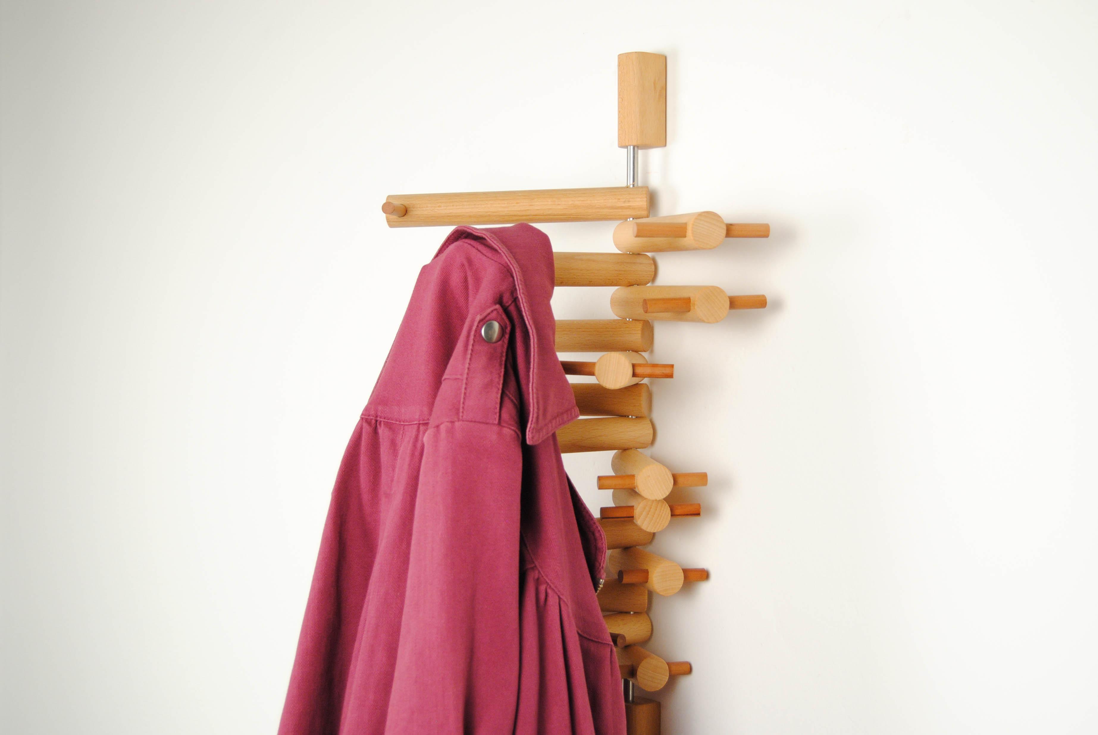 21 wooden coat hook