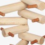 appendiabiti in legno design minimal