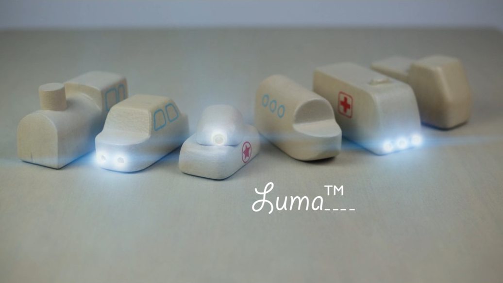 Luma wooden toys that glow from Singapore