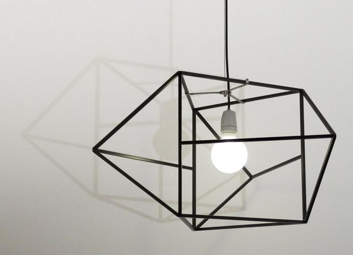 divina proportione metal lamp black