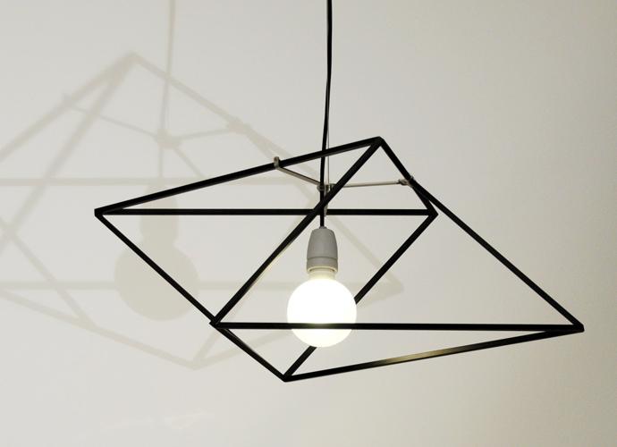 divina proportione geometric lamp black