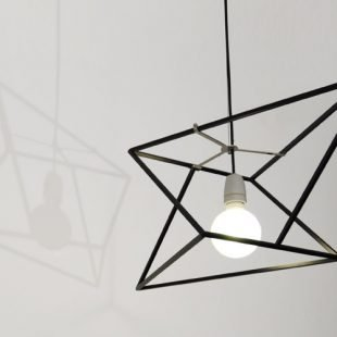 divina proportione geometric lamp black