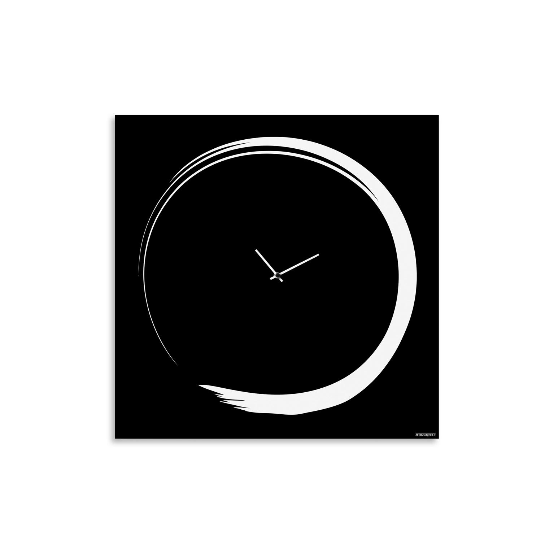 orologio-parete-design-calligrafia-wall-clock-enso-black