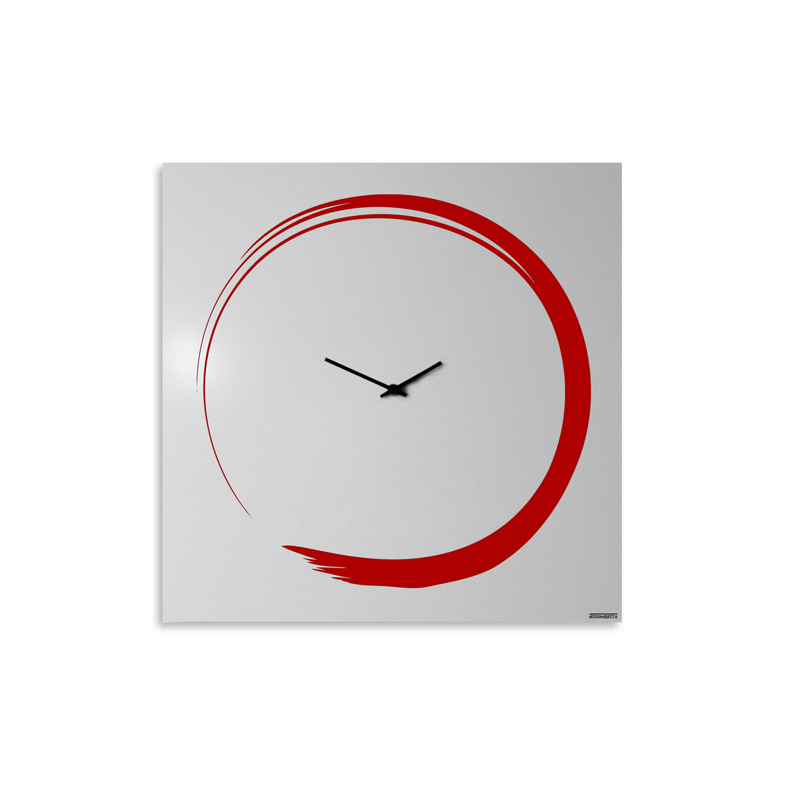 orologio-parete-design-calligrafia-wall-clock-enso-red