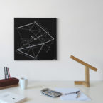 orologio-parete-design-wall-clock-desk-time-line-black