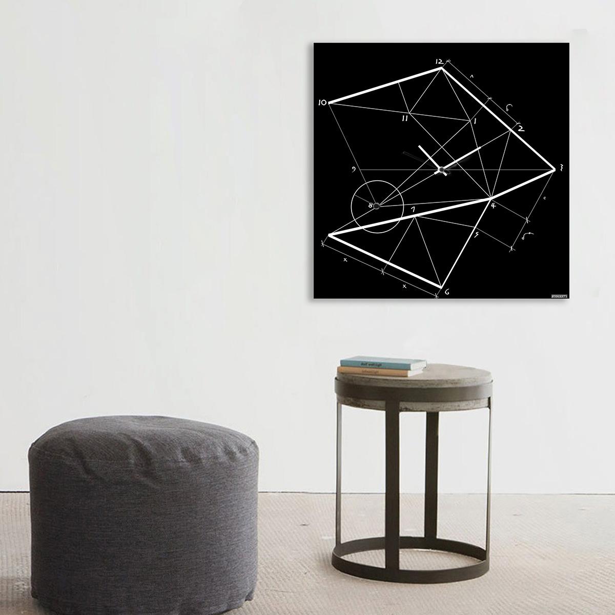 orologio-parete-design-wall-clock-mood-time-line-black