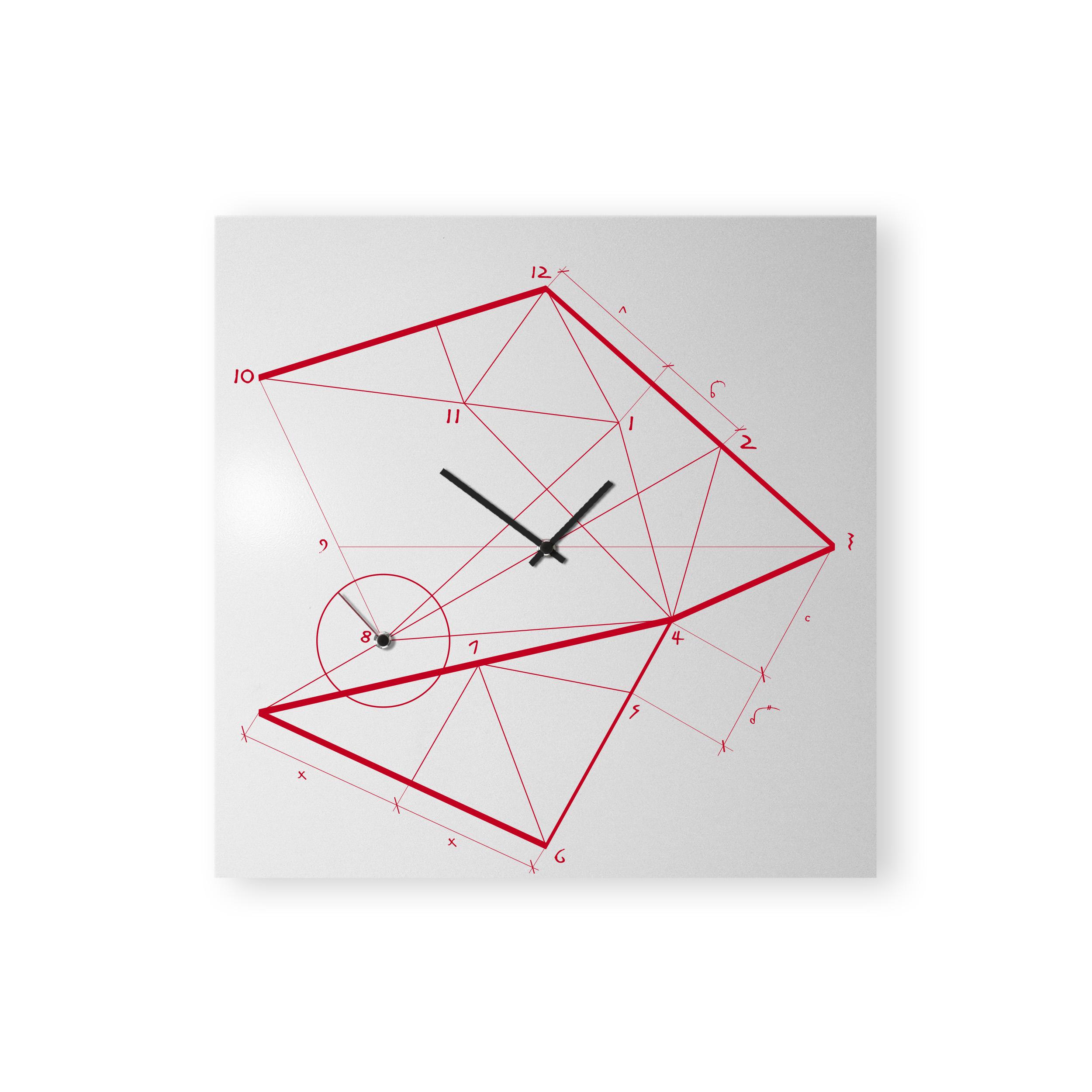 orologio-parete-design-wall-clock-time-line-red