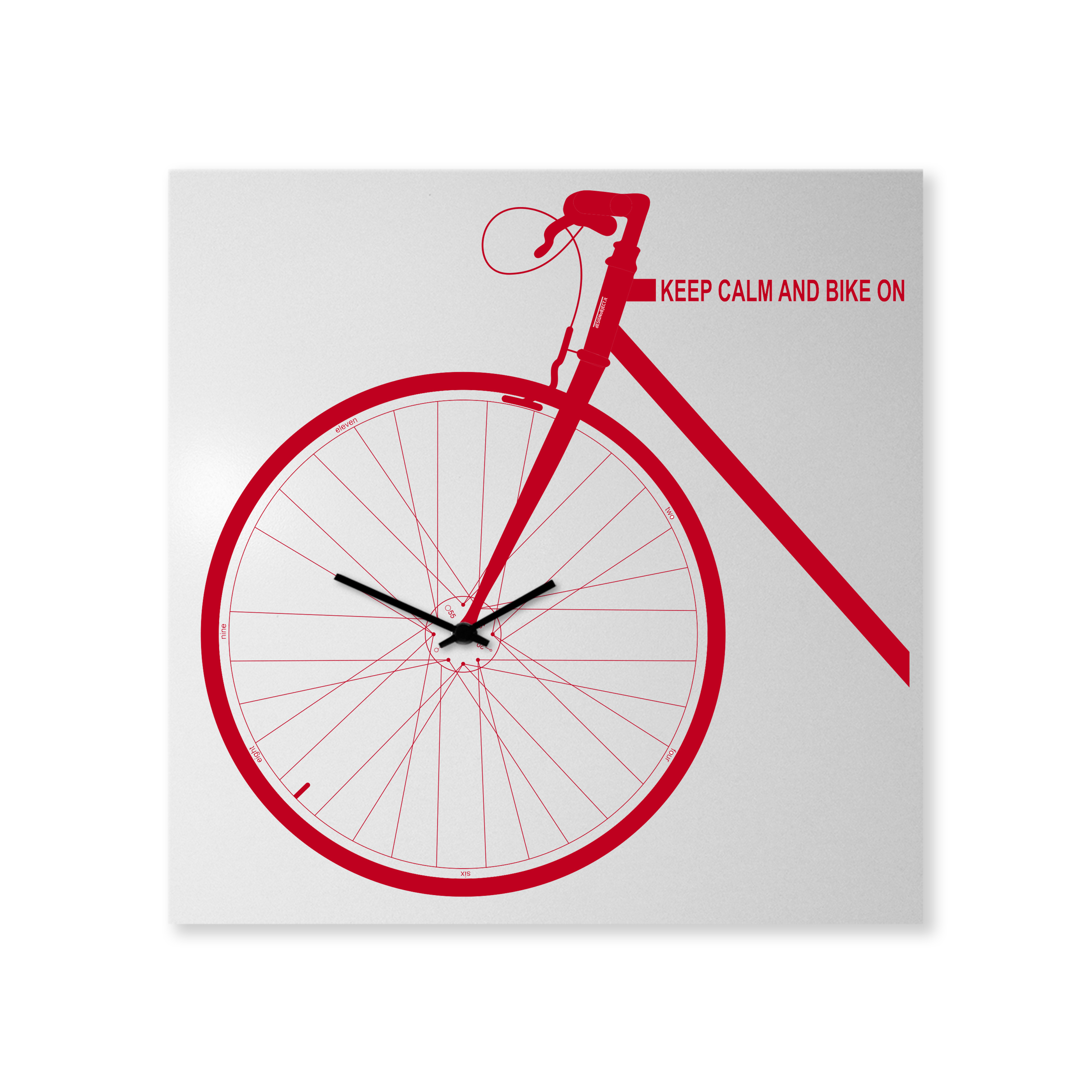 orologio-parete-design-wall-clock-bike-red