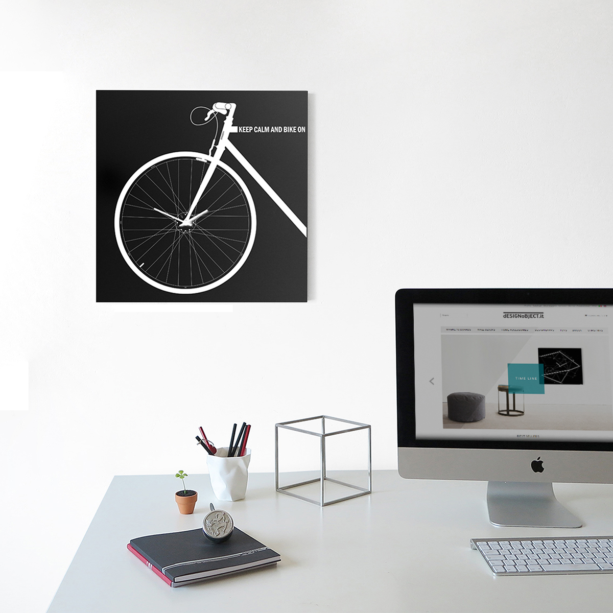 orologio-parete-design-wall-clock-mood-bike-black
