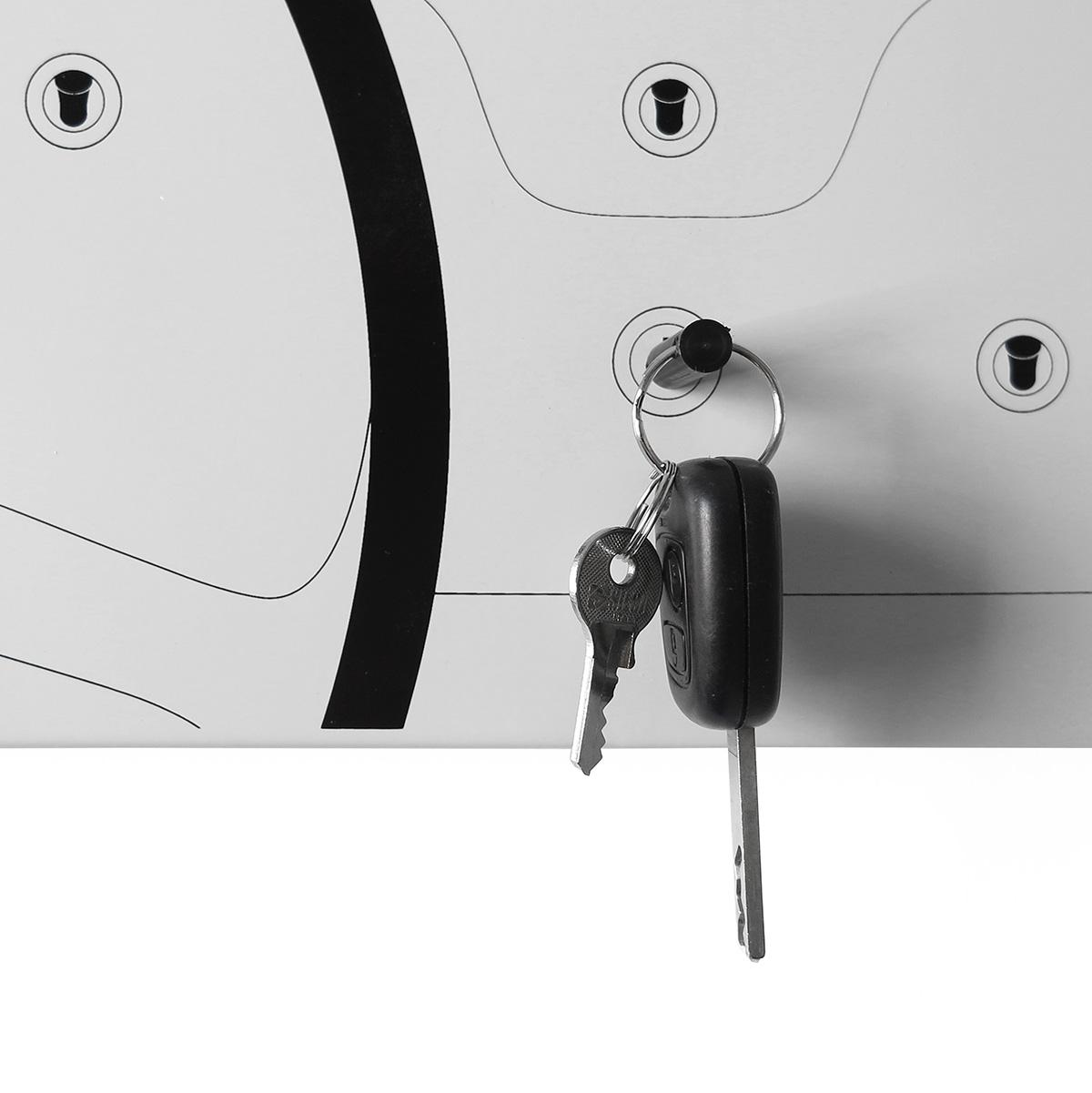 orologio-parete-lavagna-magnetica-design-wall-clock-magnetic-board-key-holder-cinquino