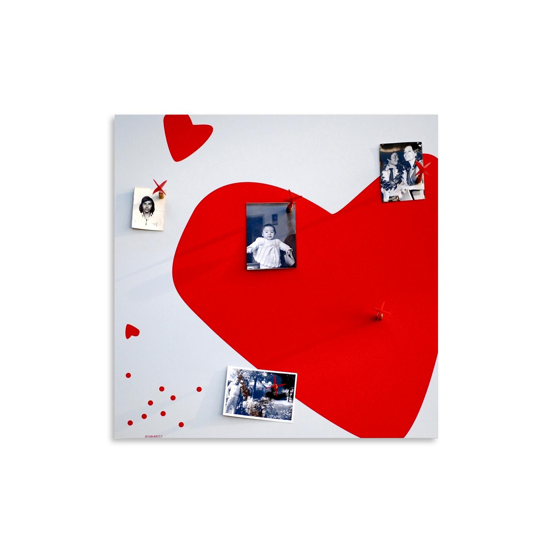 lavagna-magnetica-portafoto-magnetic-cuore-board-photo-holder-romantic-heart
