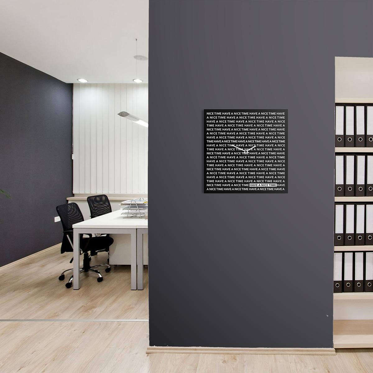 Nice time orologio da parete lavagna magnetica design - Orologio design parete ...