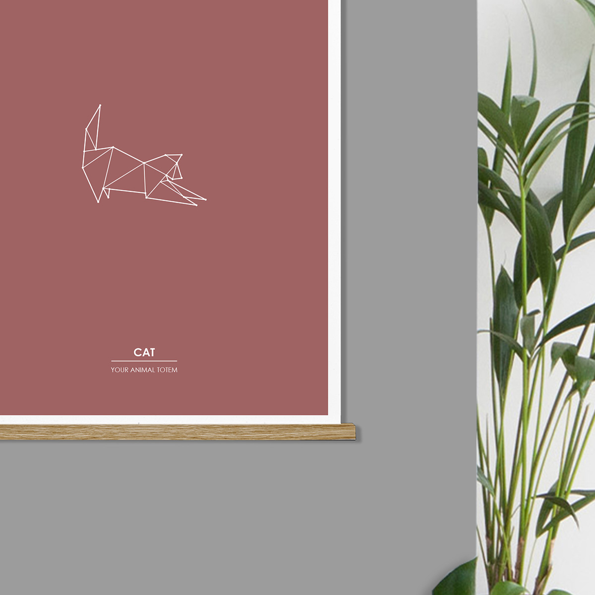 cat-animal-totem-art-print-detail