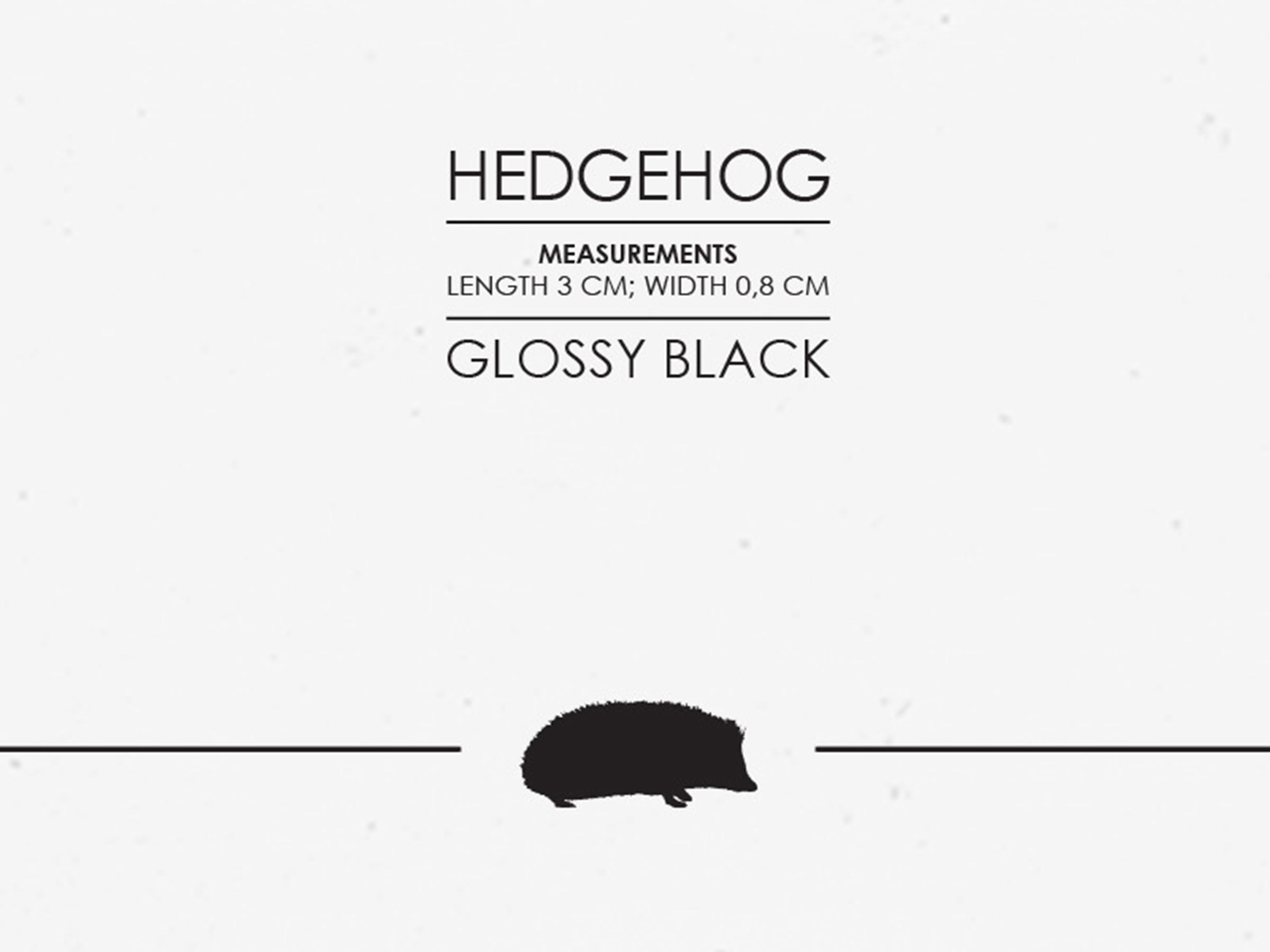 Hedgehog -tracks-art-print-detail