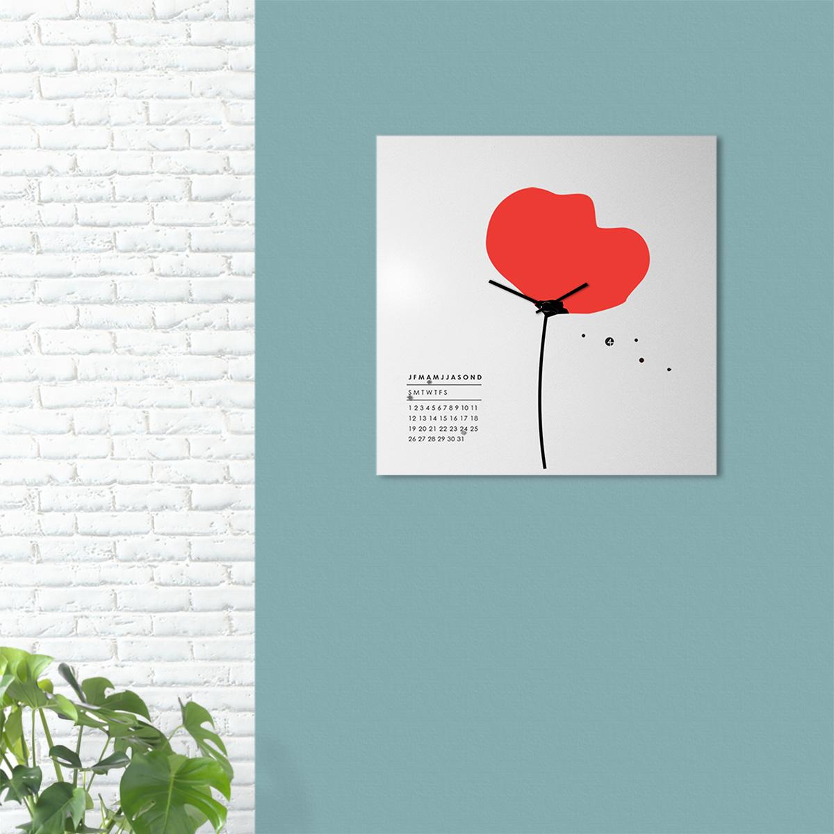 orologio-parete-design-calendario-perpetuo-wall-clock-perpetual-calendar-mood-papavero-flower