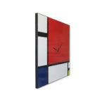 orologio-parete-lavagna magnetica-design-wall-clock-magnetic-board-mondrian