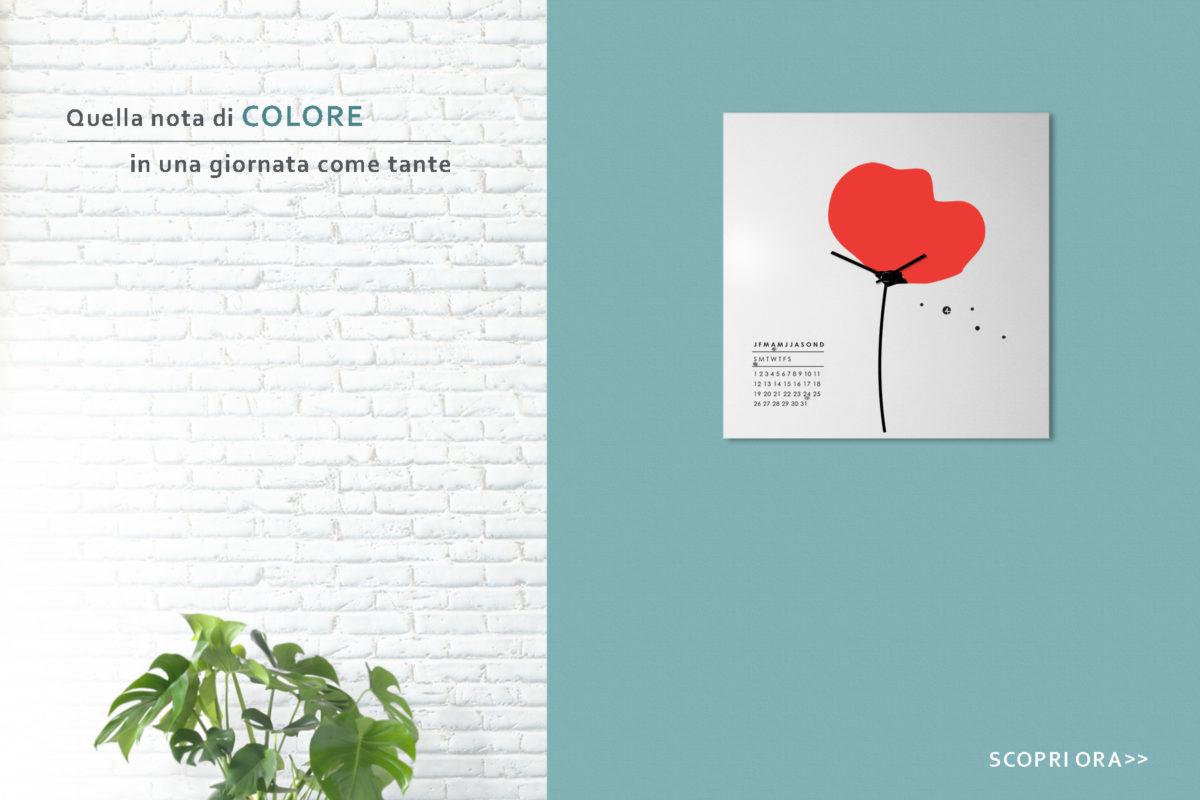 flower-papavero-design-wall-clock-orologio-parete-fiore