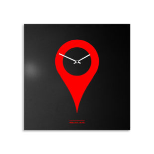 orologio-parete-design-wall-clock-you-are-here-black-red