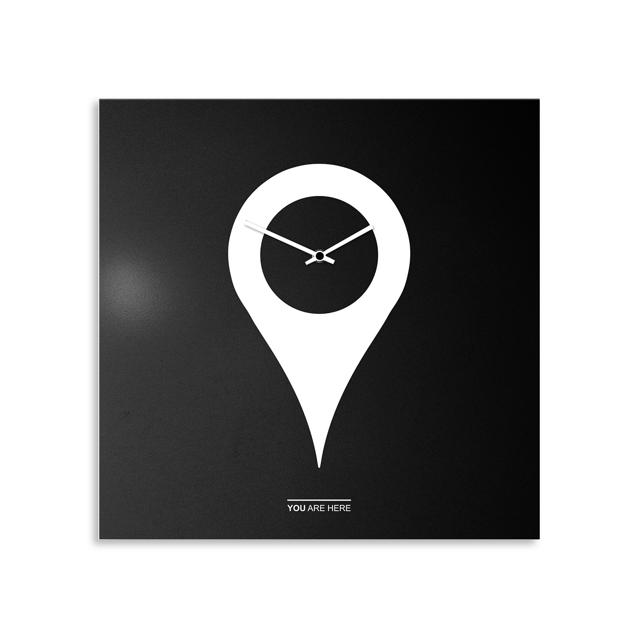 orologio-parete-design-wall-clock-you-are-here-black-white
