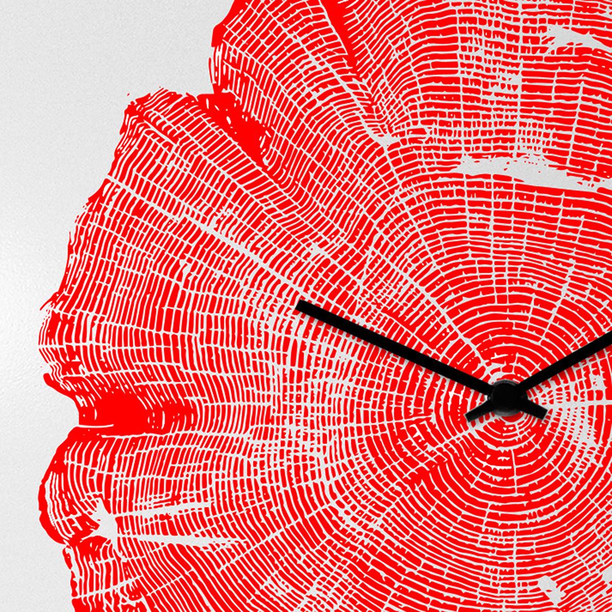 orologio-parete-design-wall-clock-tree-life-red