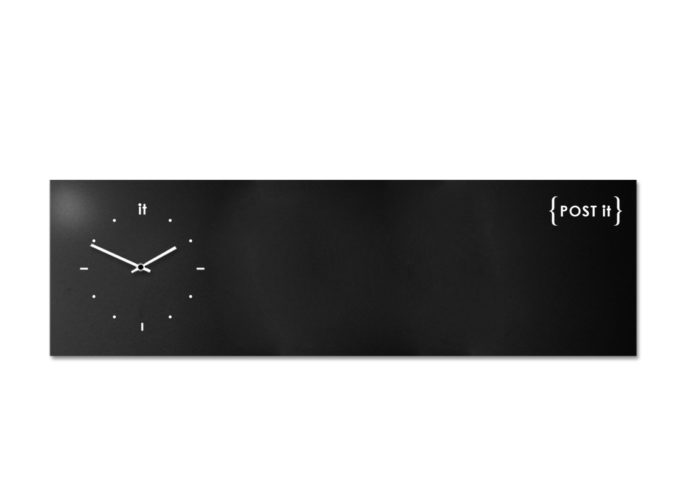 design-clock-magnetic-board-orologio-lavagna-magnetica-post it-black
