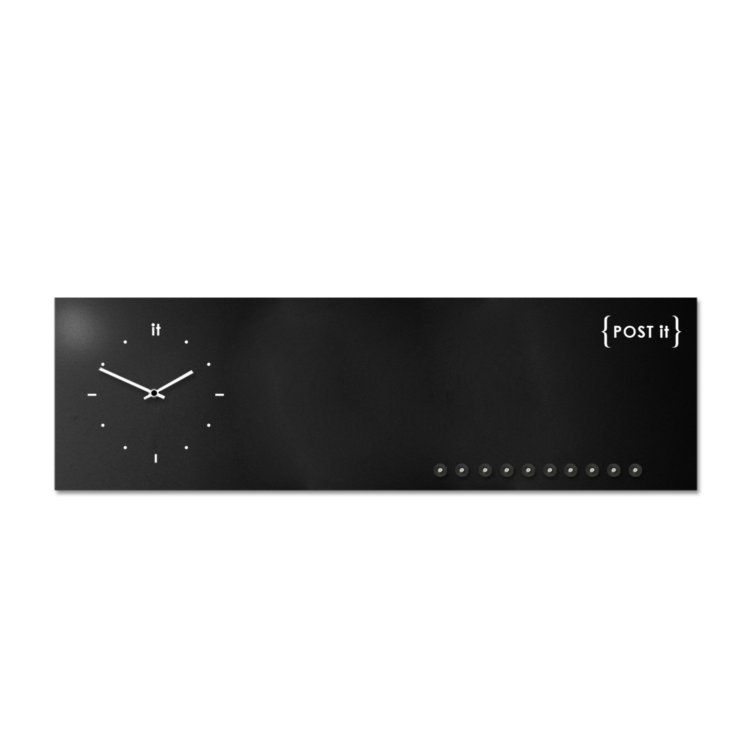 design-clock-magnetic-board-orologio-lavagna-magnetica-post it-black-magnets