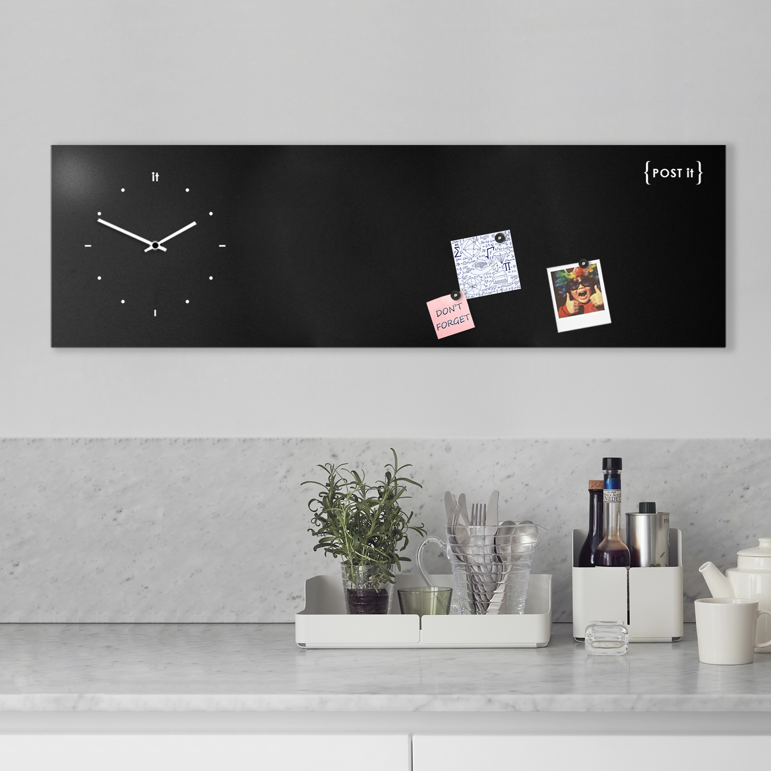 design-clock-magnetic-board-orologio-lavagna-magnetica-post it-black-mood