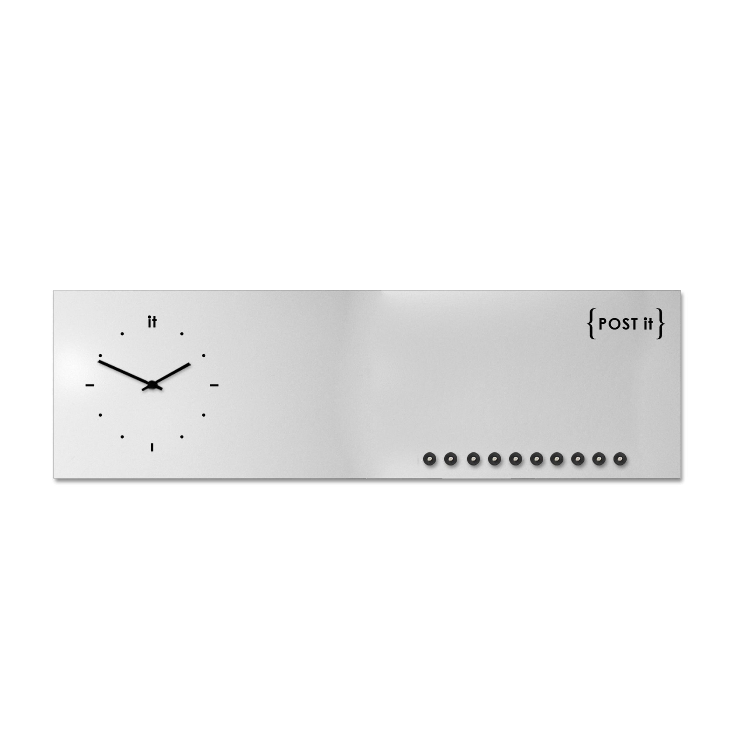 design-clock-magnetic-board-orologio-lavagna-magnetica-post it-white-magnets