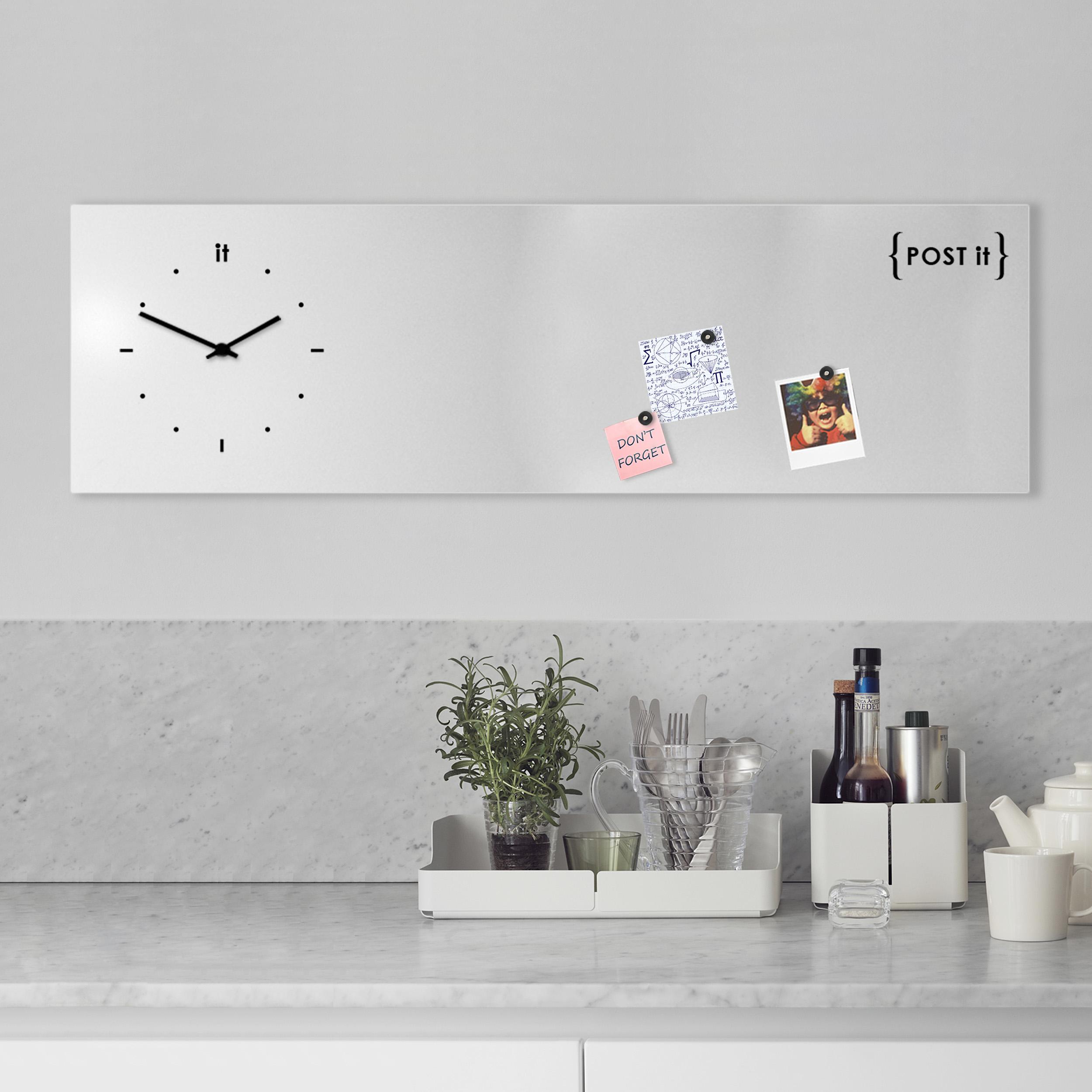 Orologio di design lavagna magnetica post it designobject - Lavagna cucina design ...