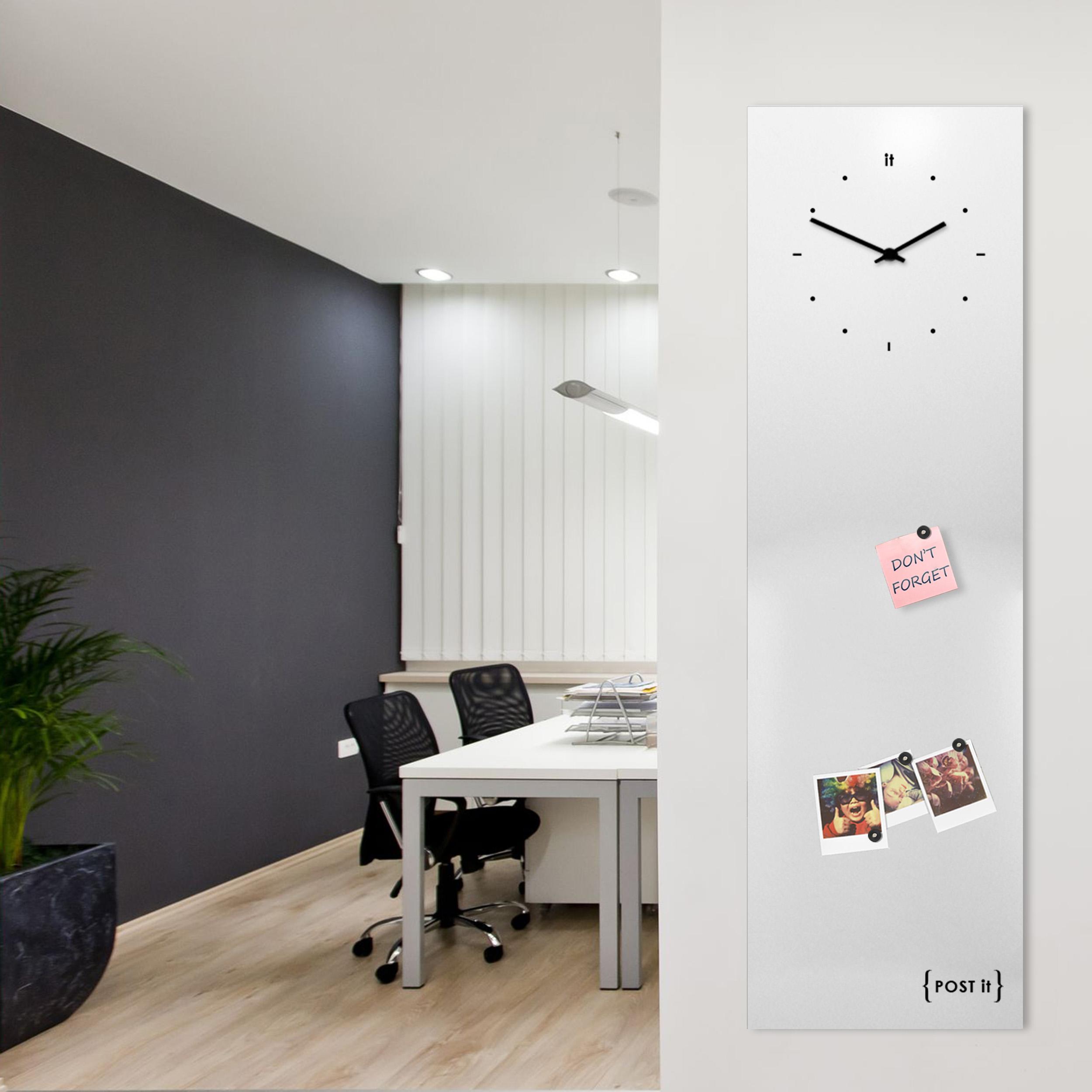 clock-design-magnetic-board-orologio-lavagna-magnetica-post it-white-mood