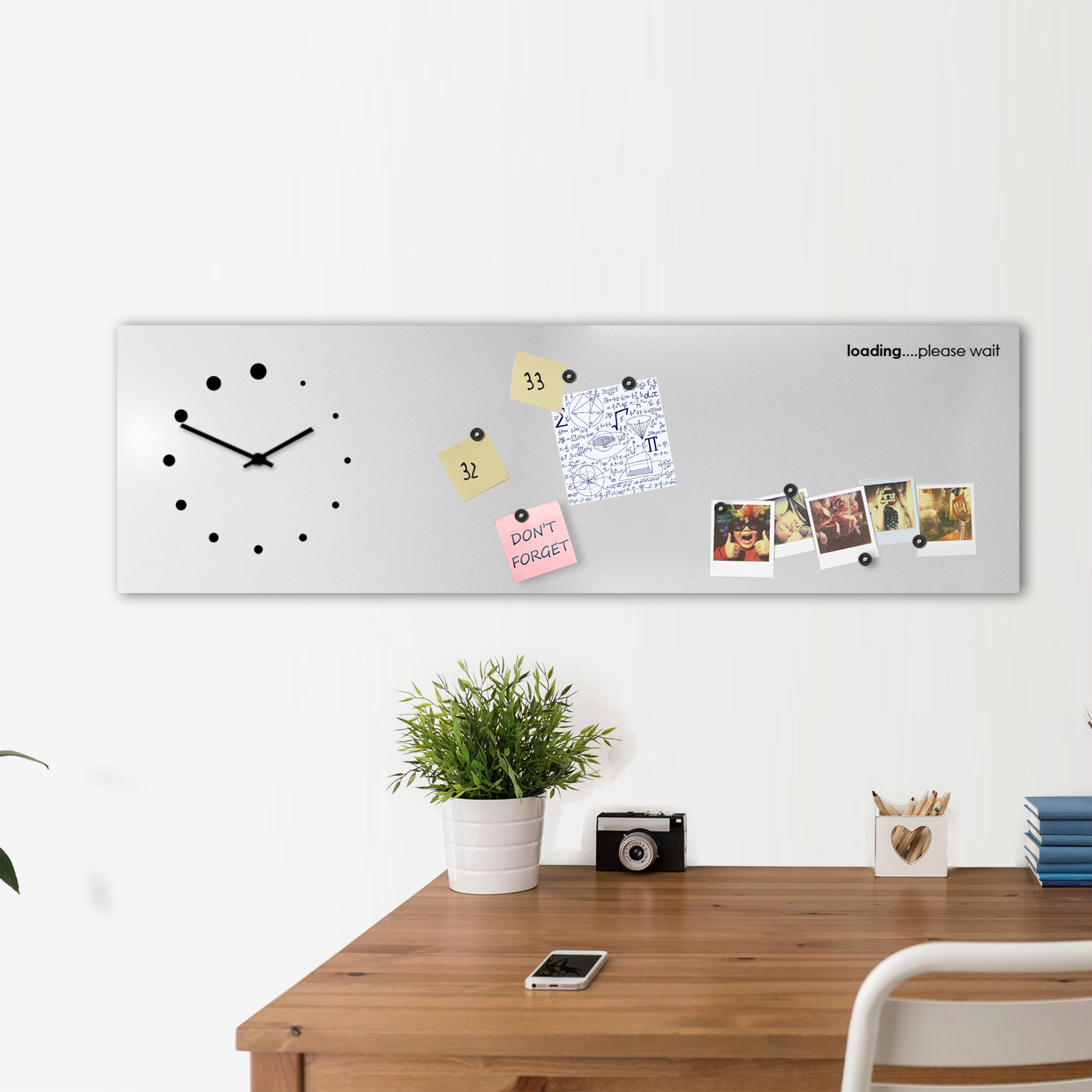clock-design-magnetic-board-white