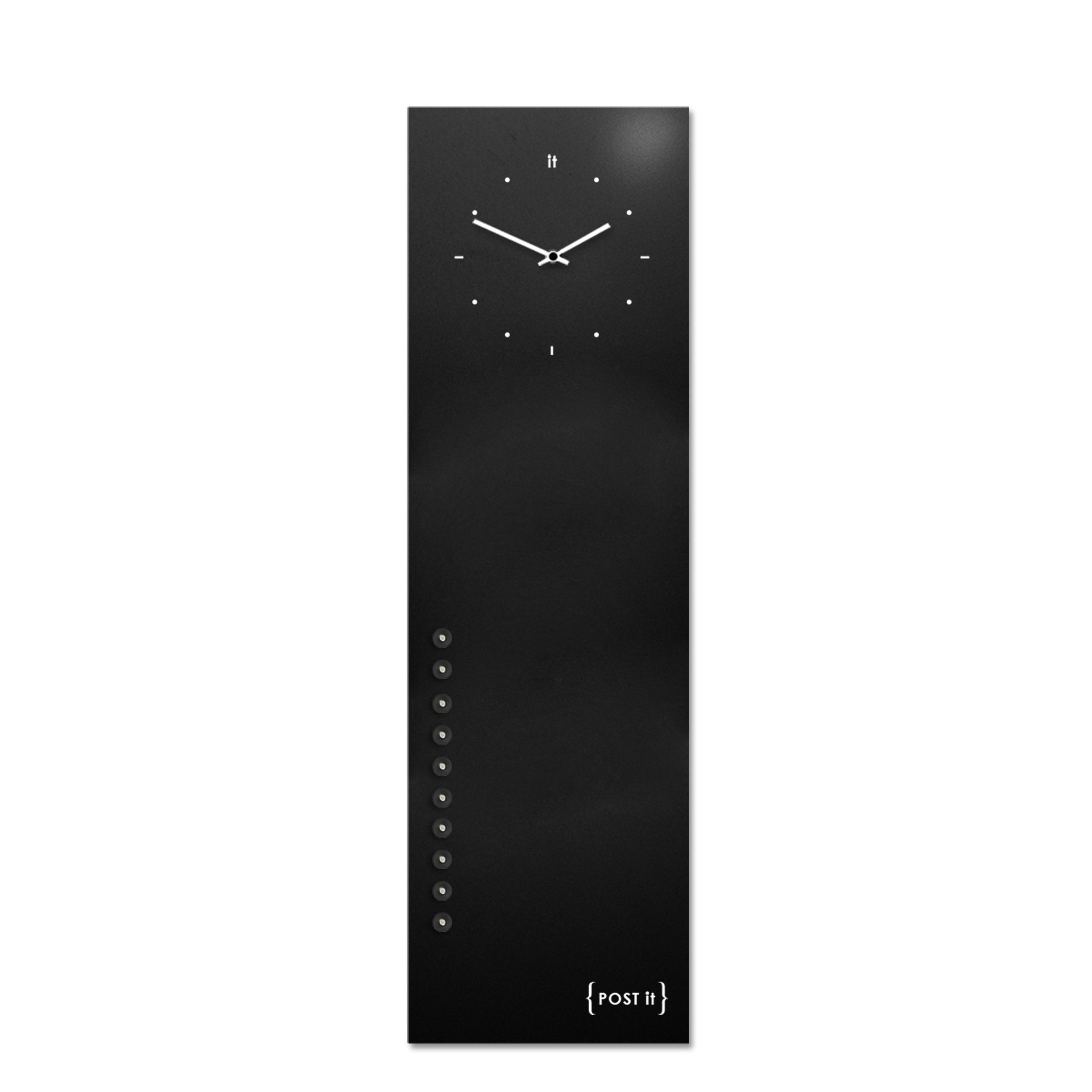 design-clock-magnetic-board-orologio-lavagna-magnetica-post it-black-vertical-magnets
