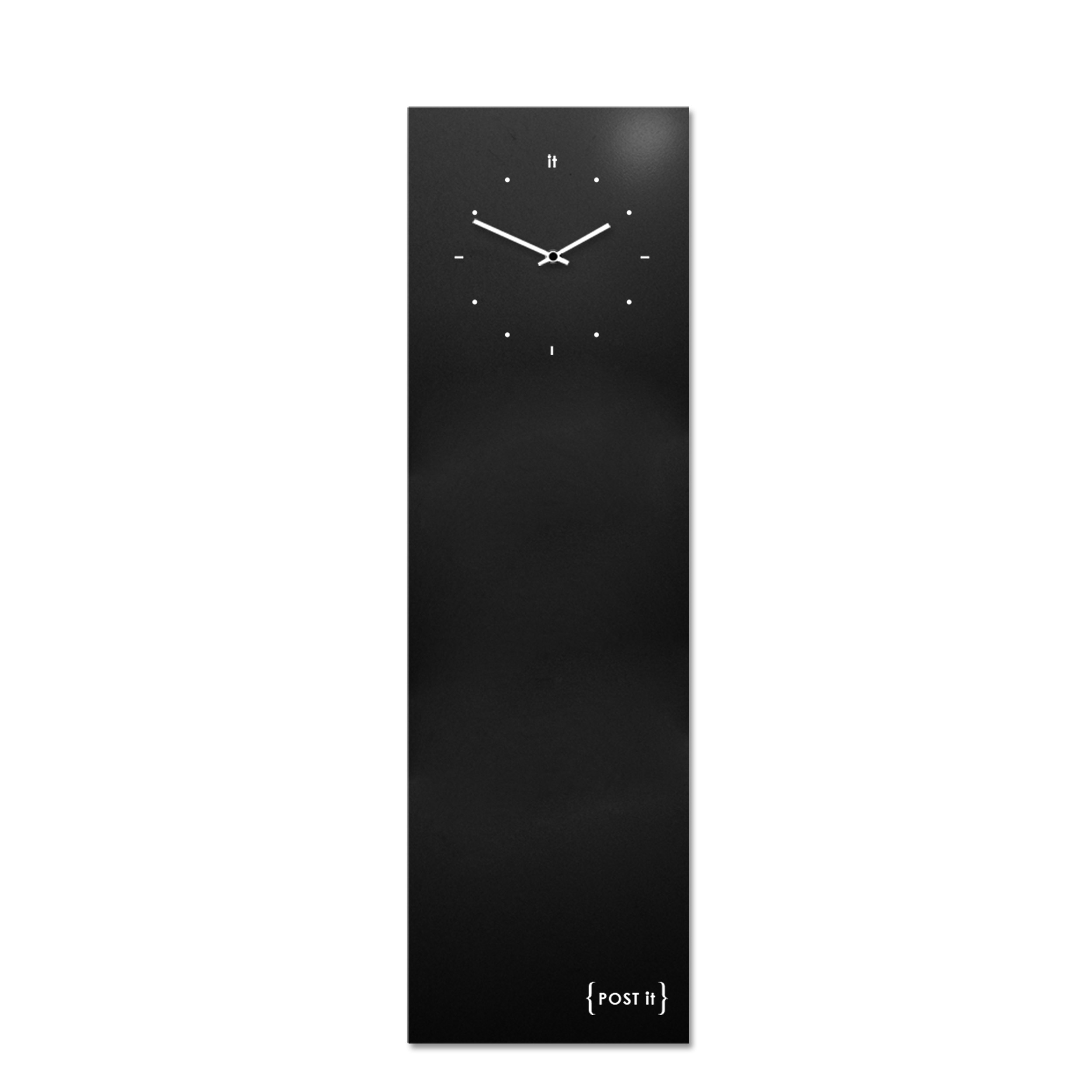 design-clock-magnetic-board-orologio-lavagna-magnetica-post it-black-vertical