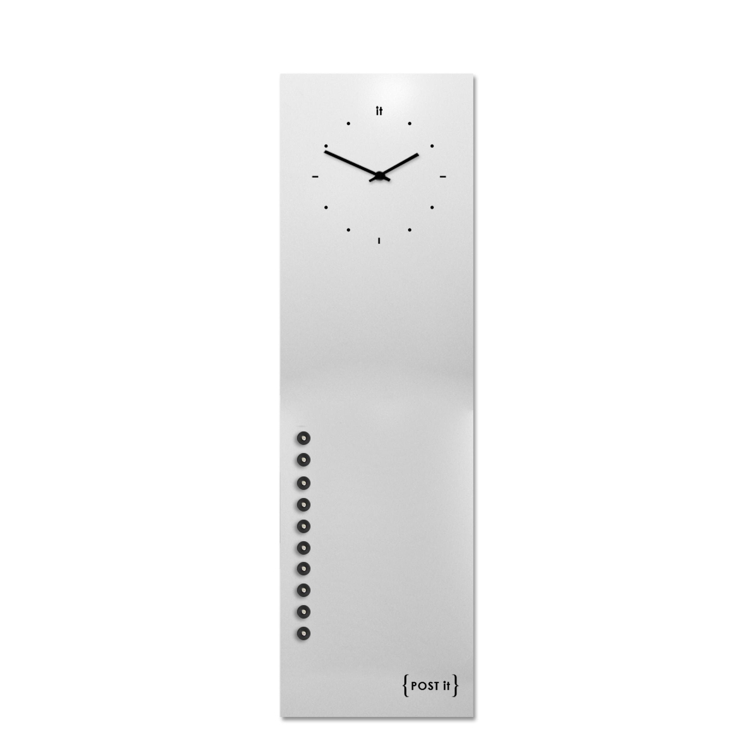design-clock-magnetic-board-orologio-lavagna-magnetica-post it-white-vertical-magnets