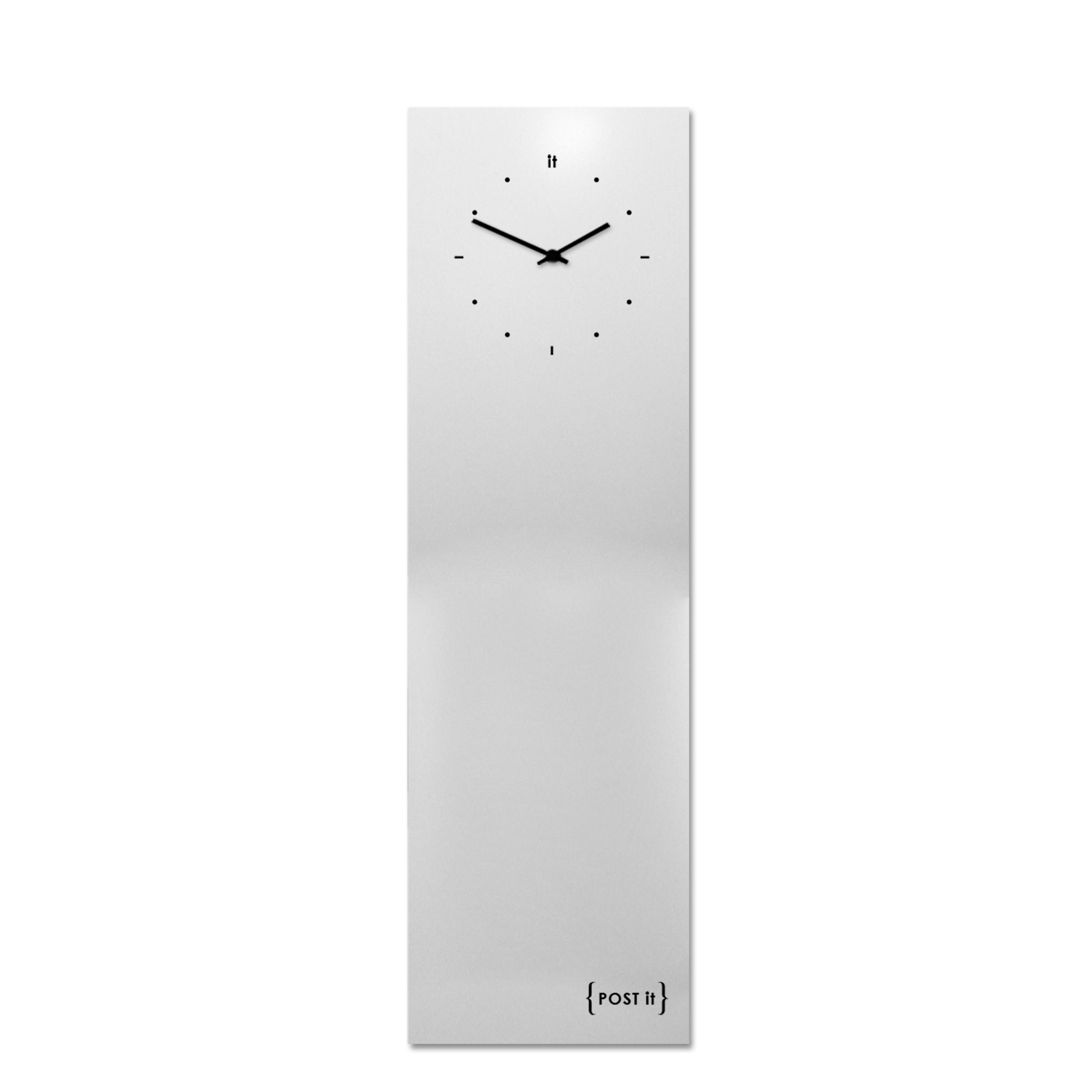 design-clock-magnetic-board-orologio-lavagna-magnetica-post it-white-vertical