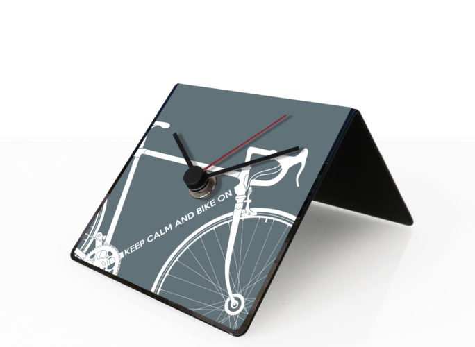 Bike clock grey
