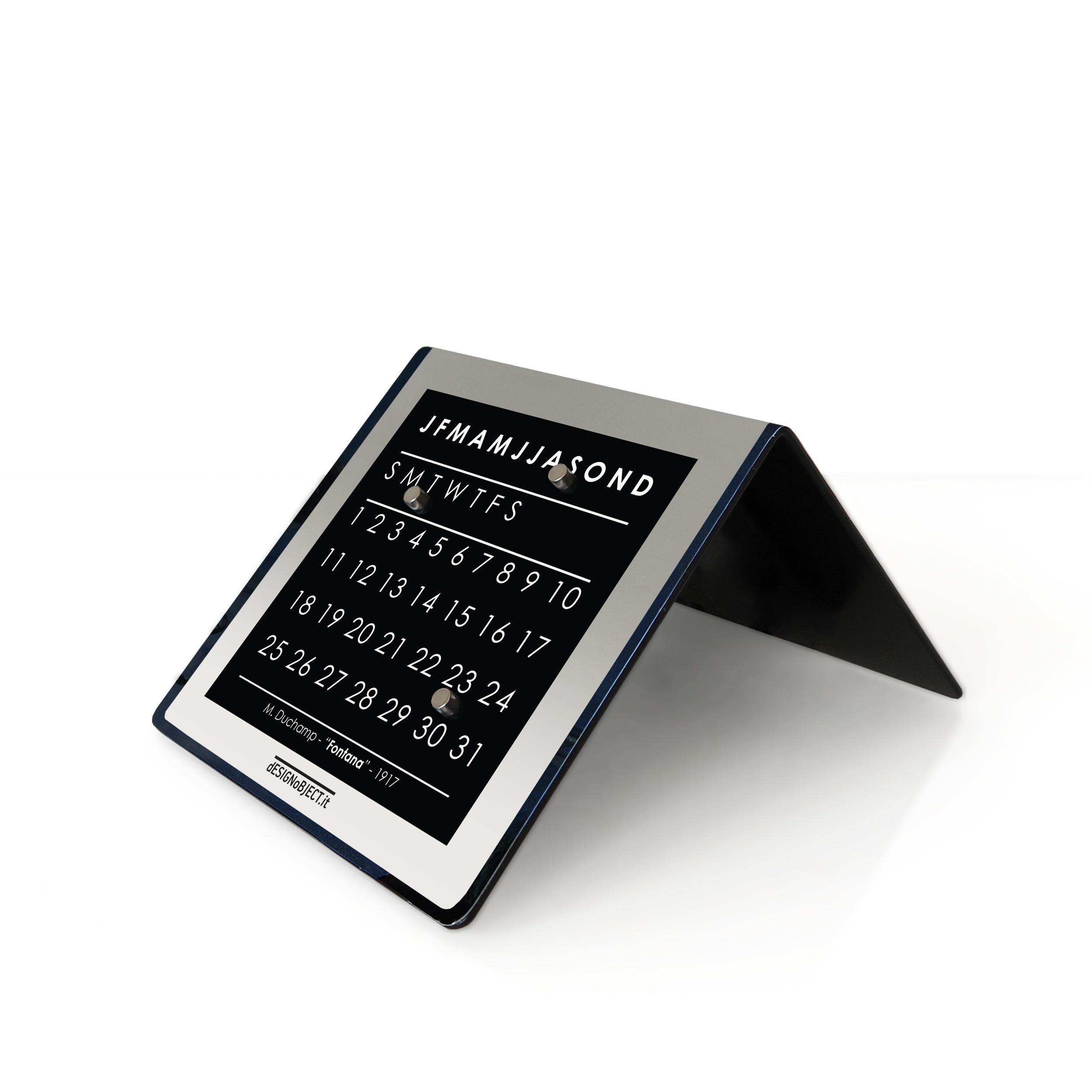 duchamp art clock calendar designobject