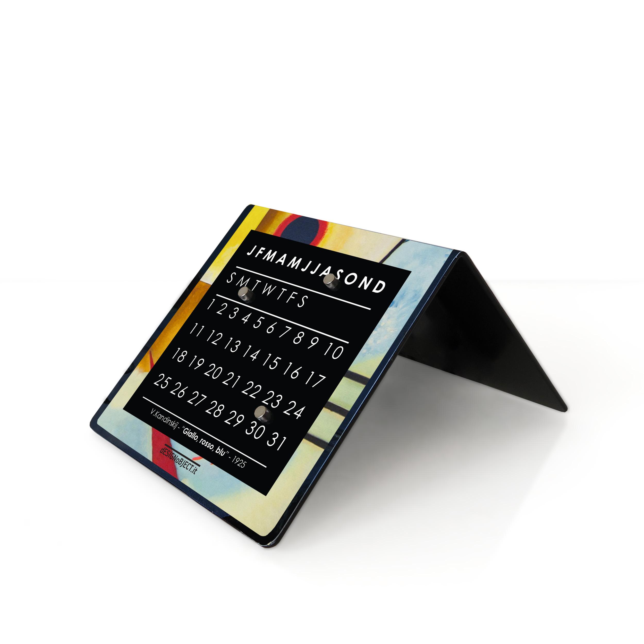 kandinsky art clock calendar designobject