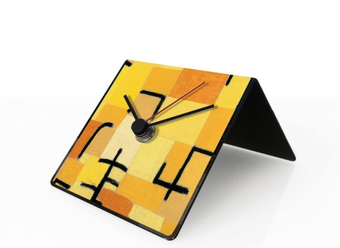 klee art clock designobject