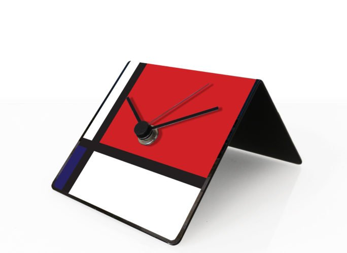 mondrianart clock designobject