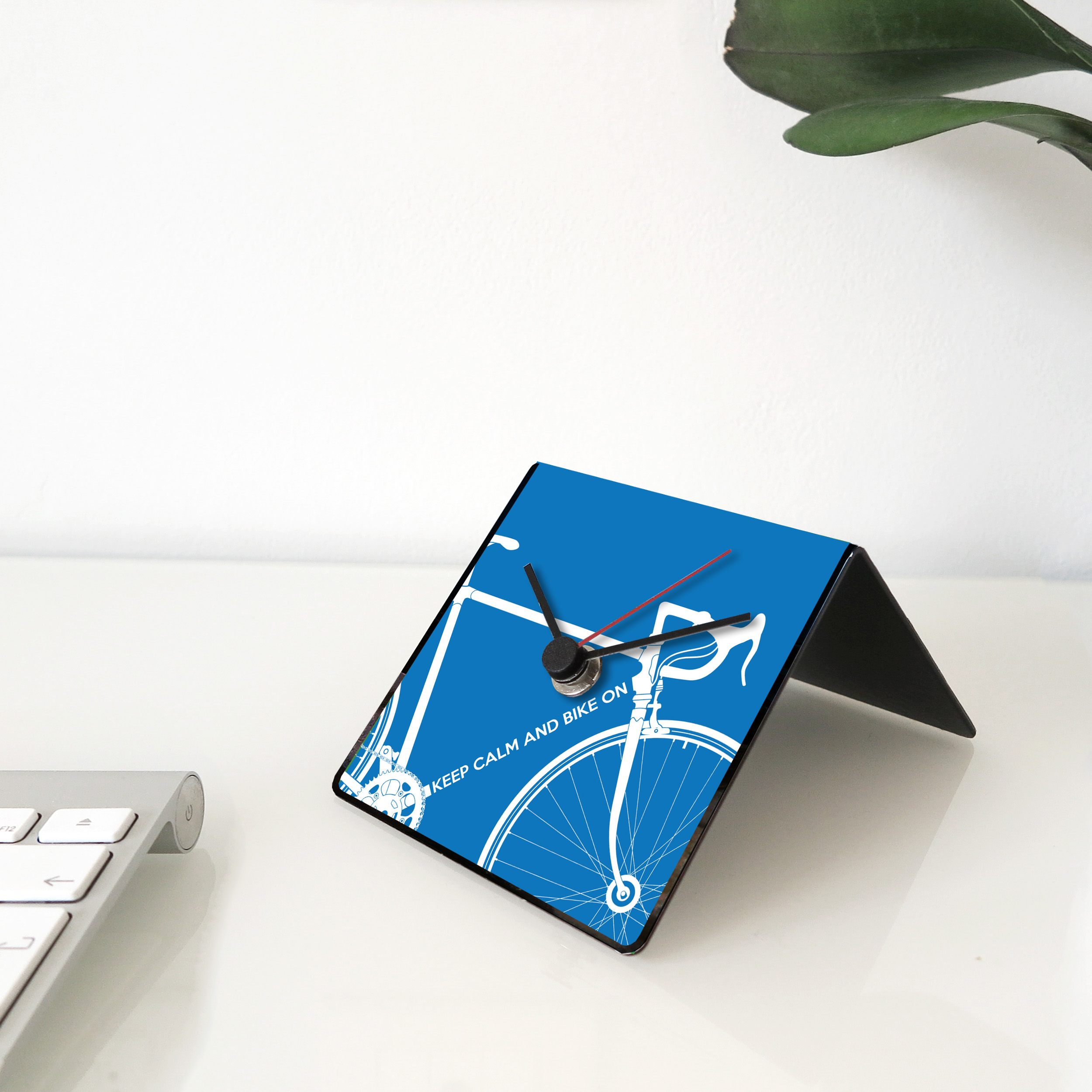 Bike clock blue desk