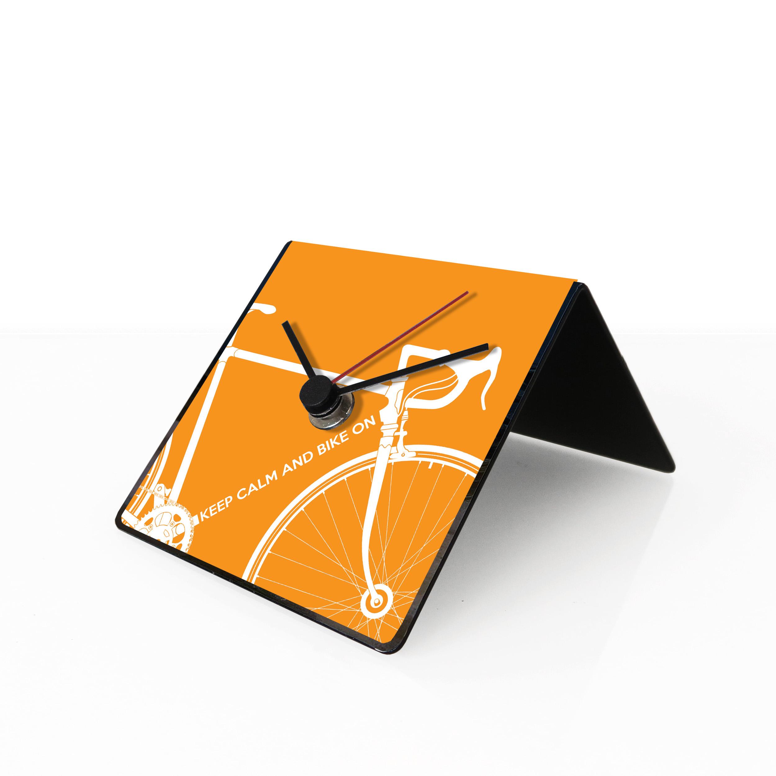 Bike clock orange