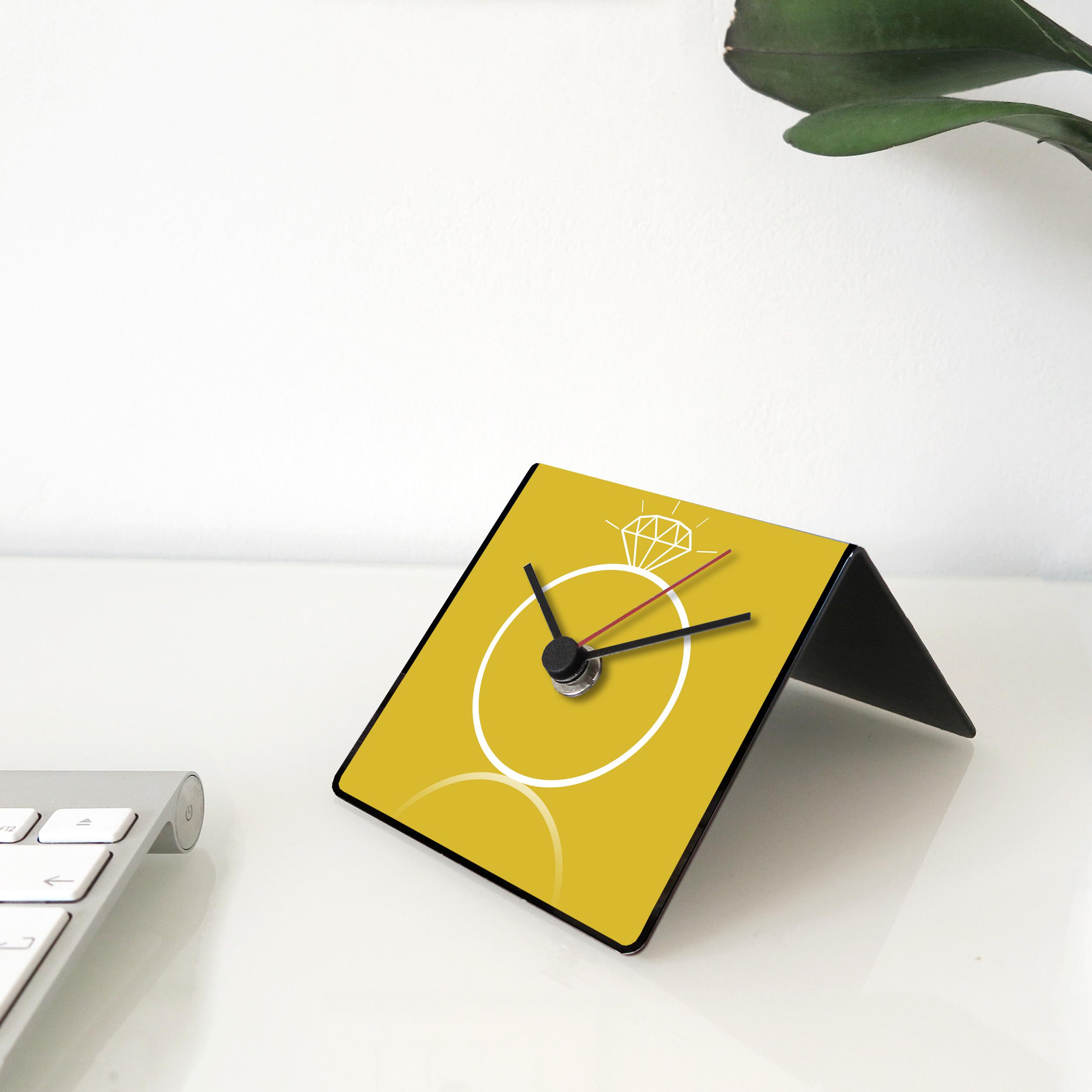 Orologio design table clock citazioni aforisma tempo
