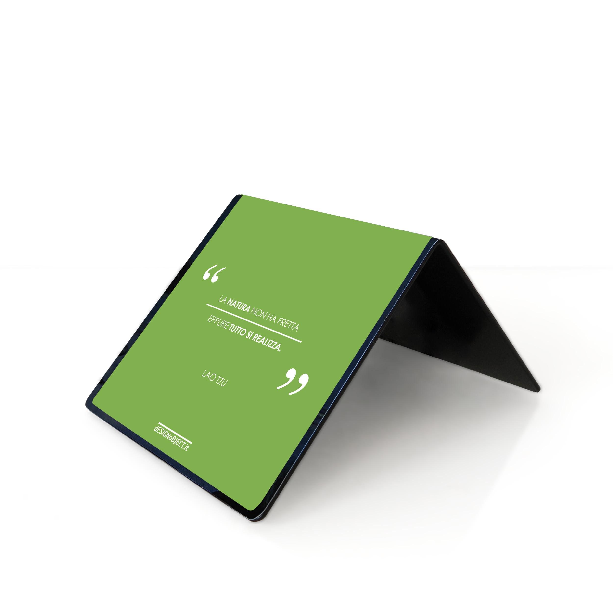 orologio di design table clock minimal design citazioni frasi Natura