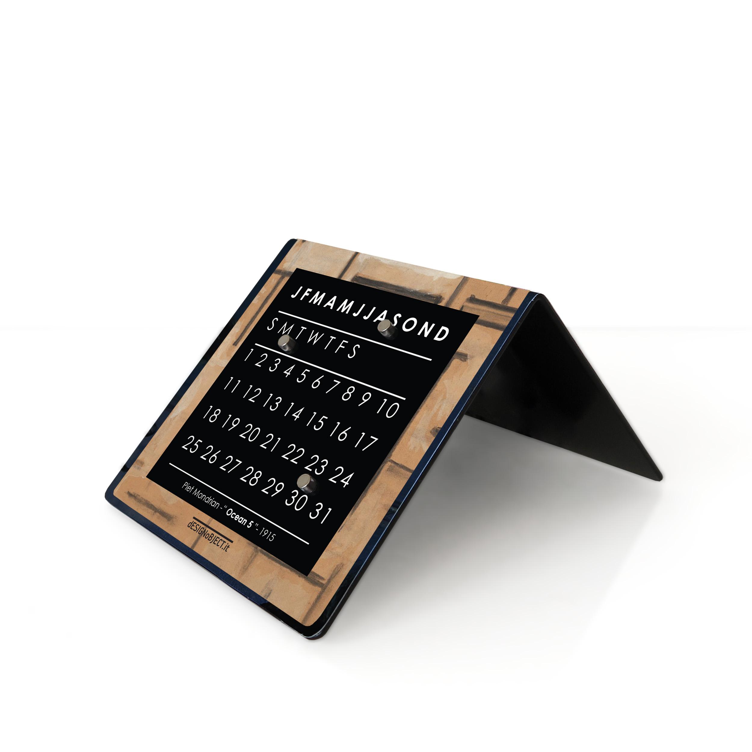 design calendar Mondrian Peggy Guggenheim Collection