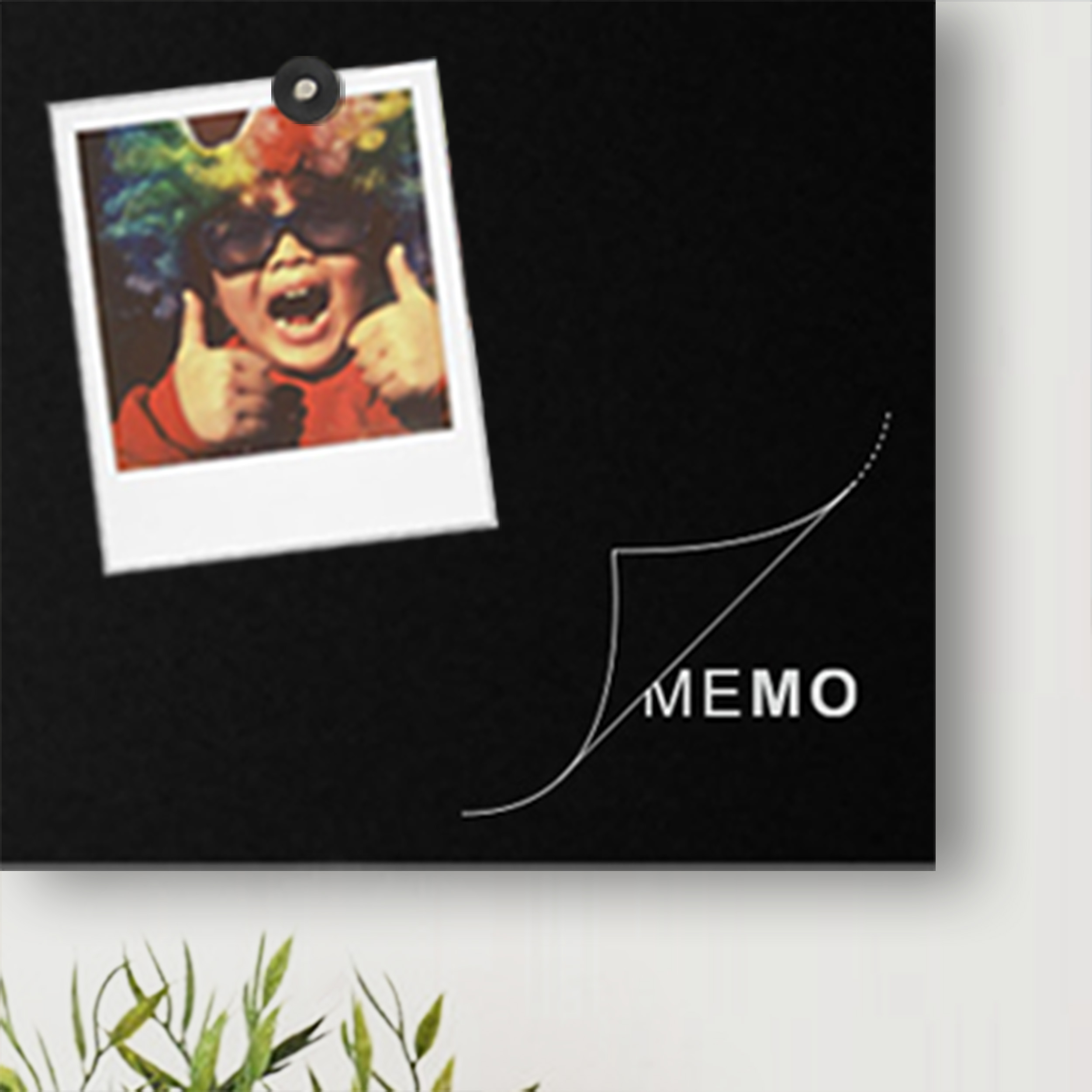 Memo board design black